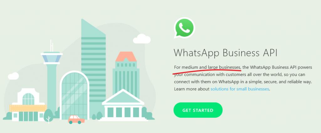 whatsapp business api site
